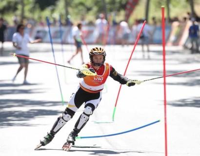 Imatges de les proves d'esquí Alpí en línia celebrades als Rollers Games celebrats a Barcelona el 2019 (Foto: M. Casanovas/WRG)