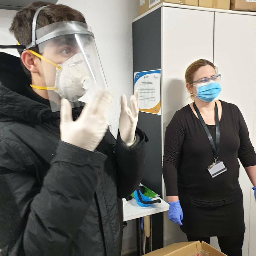 Calzados Díaz produeix màscares protectores