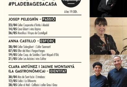 La DO Pla de Bages començarà a fer tastos de vins online per Sant Jordi.|Programa dels tastos de vins de la DO Bages
