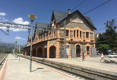 Estació de tren de Puigcerdà en una imatge d'arxiu (Foto: IST).