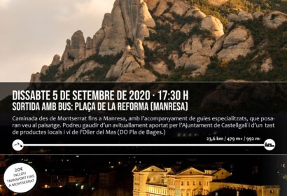 Caminada nocturna Montserrat - Manresa