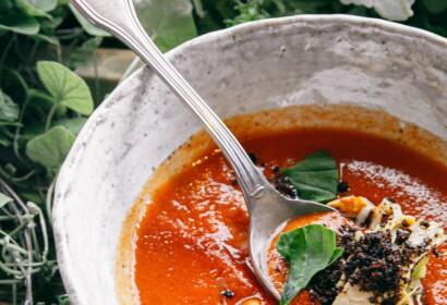 Sopa d'estiu de tomàquet