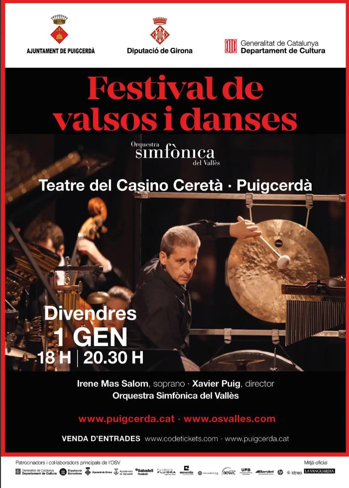 Puigcerdà acollirà el tradicional concert de Cap d'Any
