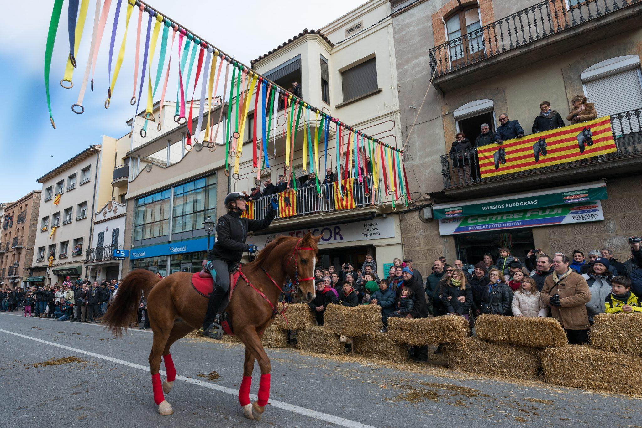 Desfilada caballs per els carrers de Puig-Reig