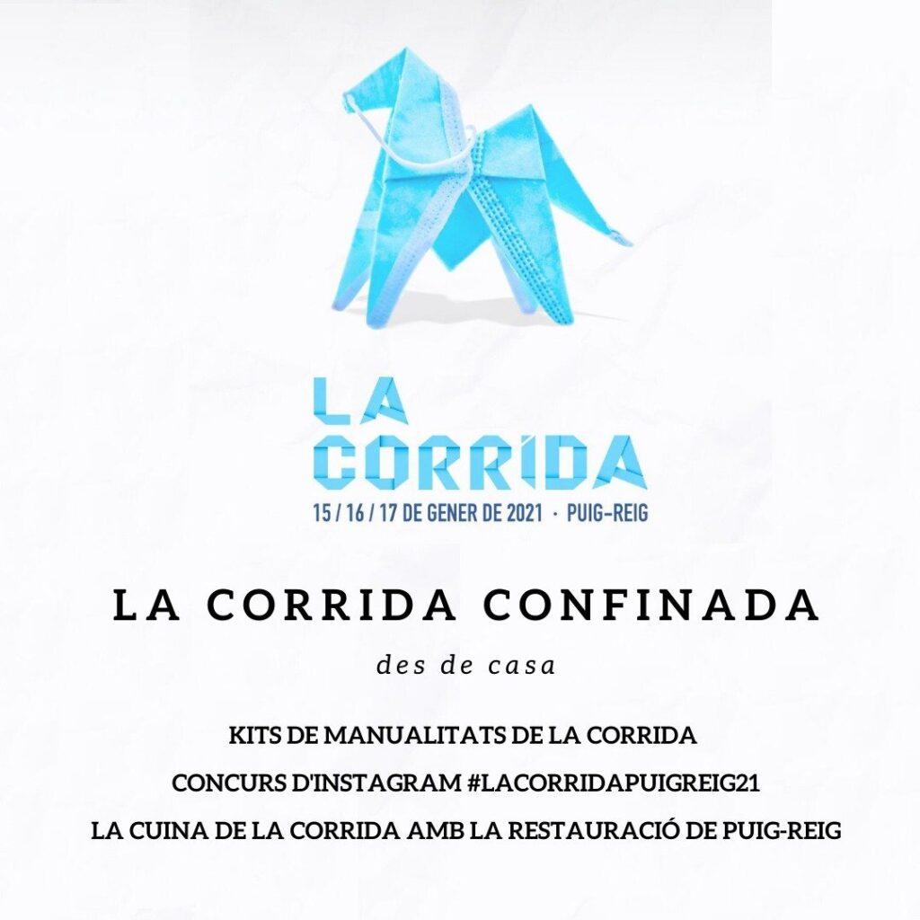 """Cartell de les festes """"La corrida confinada 2021"""""""