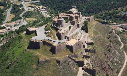 Vista aerea del Castell de Cardona