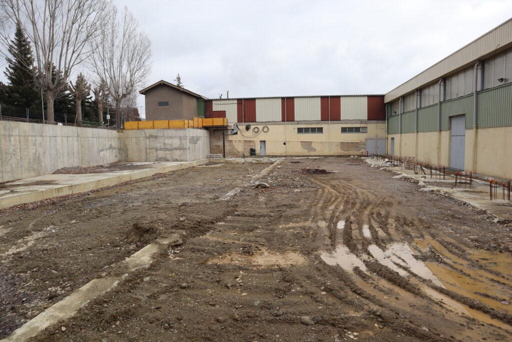 Obres del nou centre cívic i esportiu