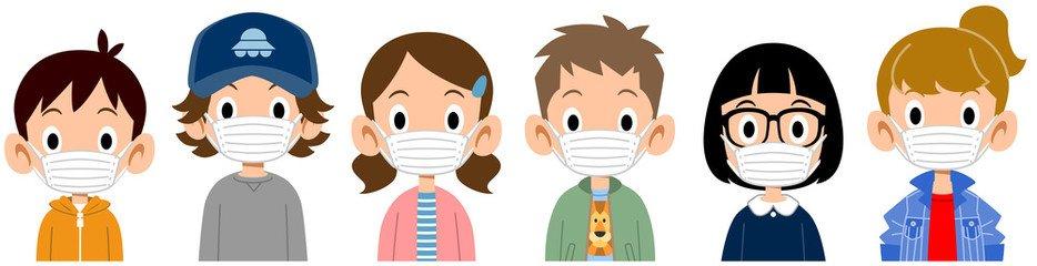 Coronavirus - nens i nenes amb mascareta