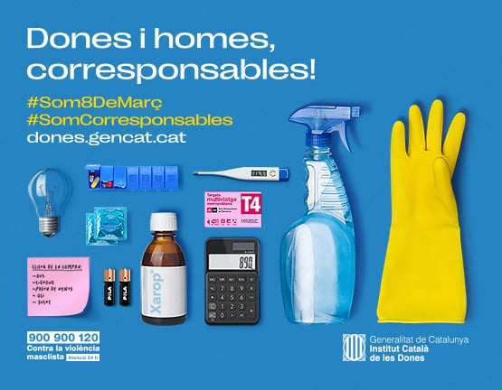 "Campanya ""Dones i homes, corresponsables! #Som8deMarç #SomCorresponsables"""