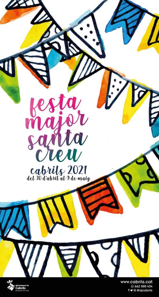 Cartell de la Festa Major de Santa Creu. Del 30 d'abril al 9 de maig