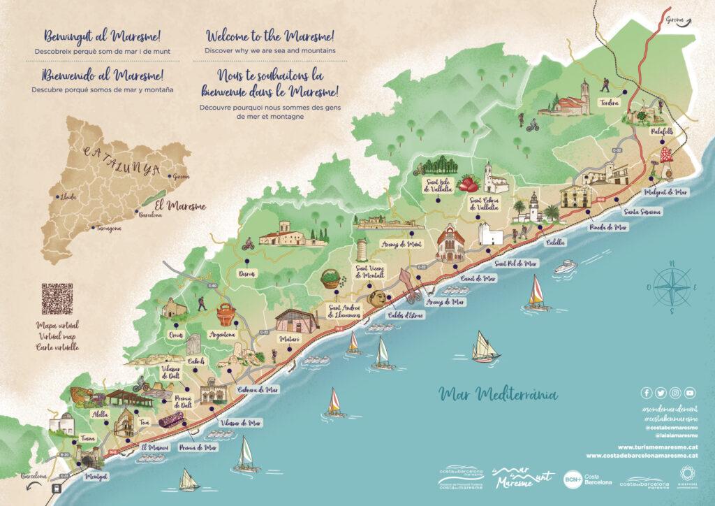 Mapa turístic del Maresme. Dissenyadora: Marina Turró
