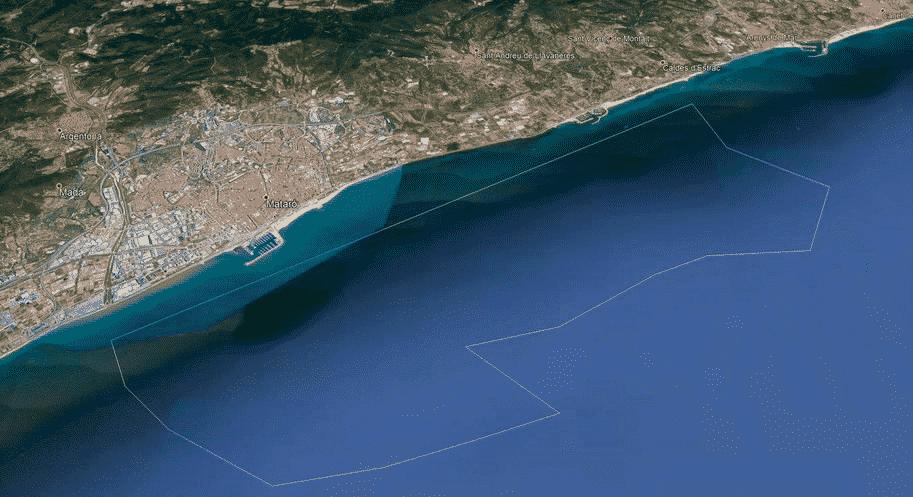 Posidonia - Imatge extreta de Google Earth