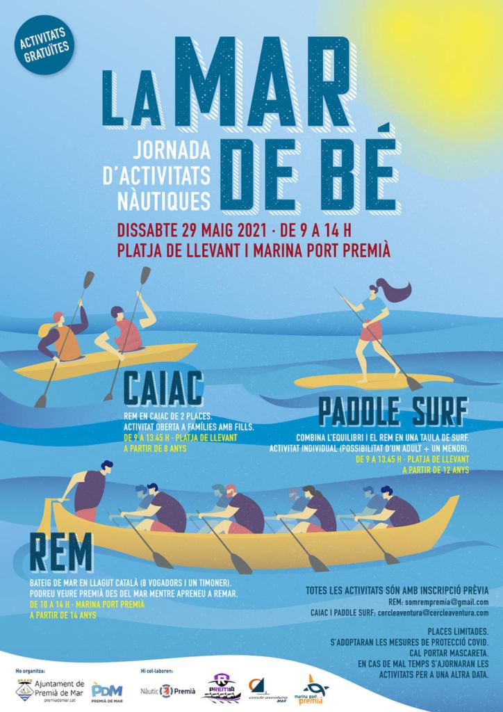 Activitats nàutiques La mar de bé a Premià de Mar