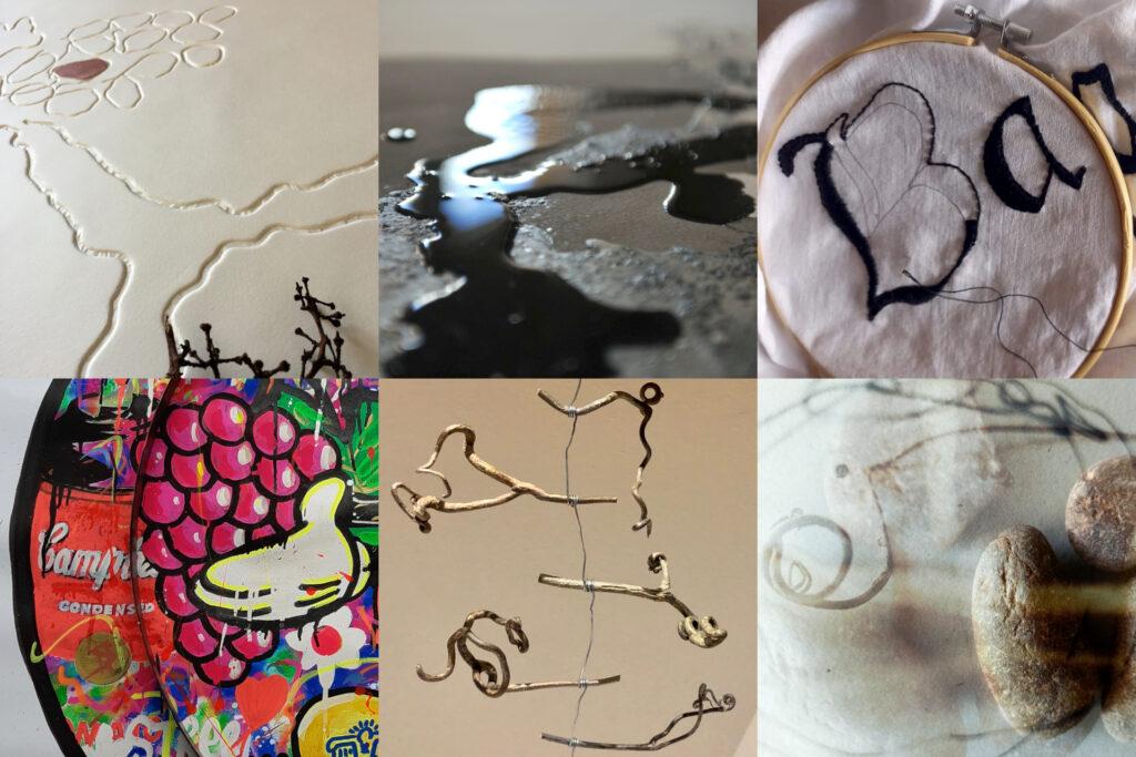 Vi_suals. Selecció de fragments dels treballs dels artistes (Teresa Soler, Joan Ramon Reig, Carme Magem, Hök, Enric Rodó i Tamara Hernandez)