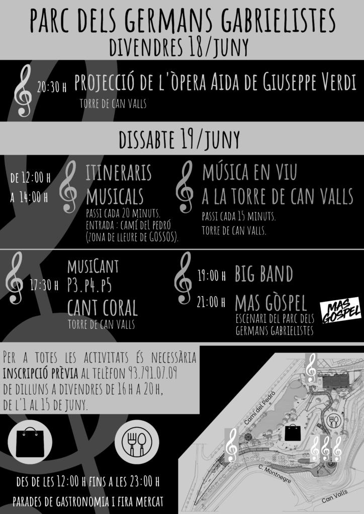 Parc Germans Gabrielistes, horari del Viu la Música!