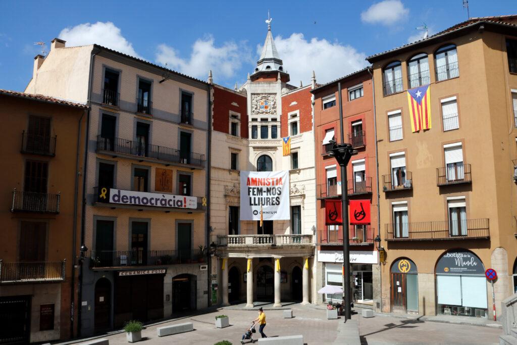 Pla general de la plaça de Sant Pere de Berga, epicentre de Patum