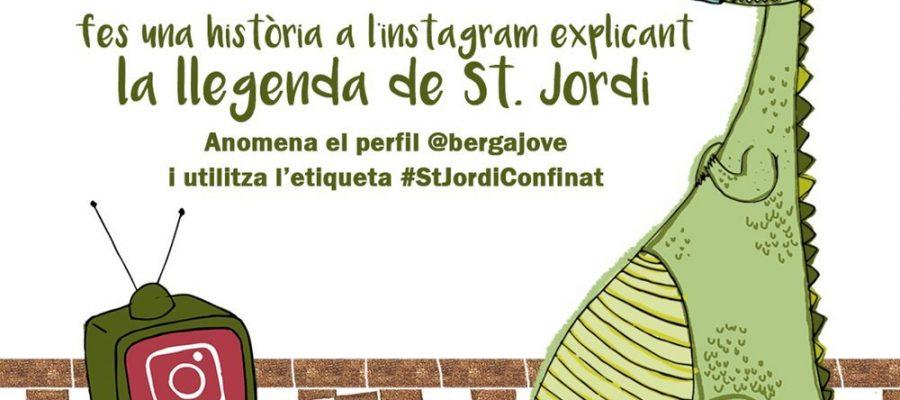 Cartell Sant Jordi a Berga via instagram