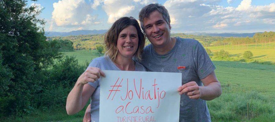 Anna Niubò i la seva parella Joan Ribera