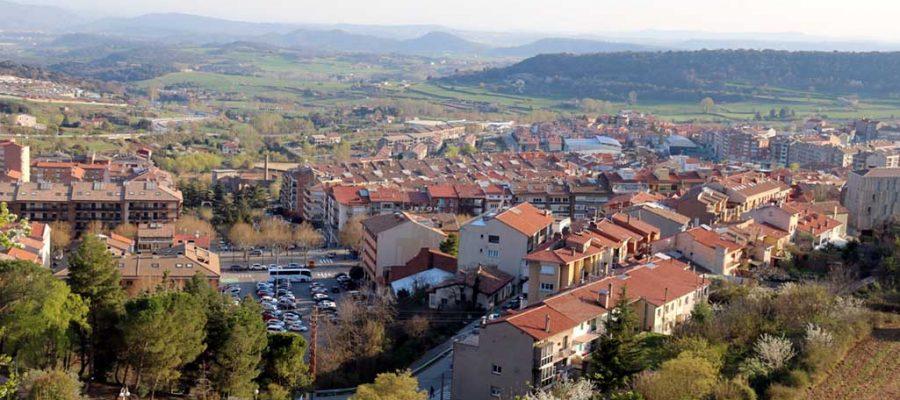 Vista aèria de Berga. Imatge publicada el 18 de maig de 2019