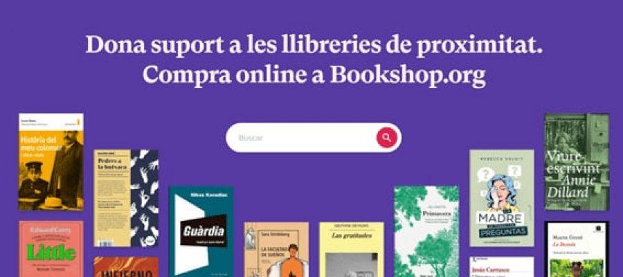 Imatge de la plataforma de venda de llibres Bookshop.org en català. 12 d'abril del 2021 (horitzontal)