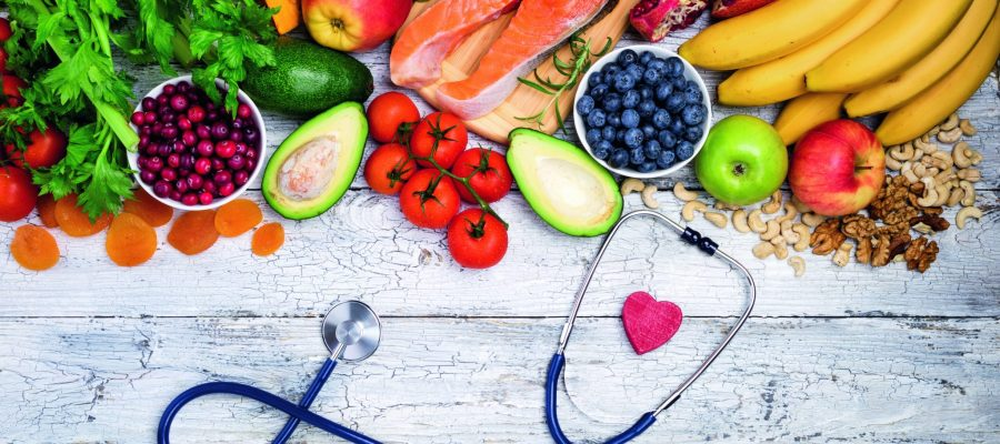 Healthy food for heart. Fresh fish