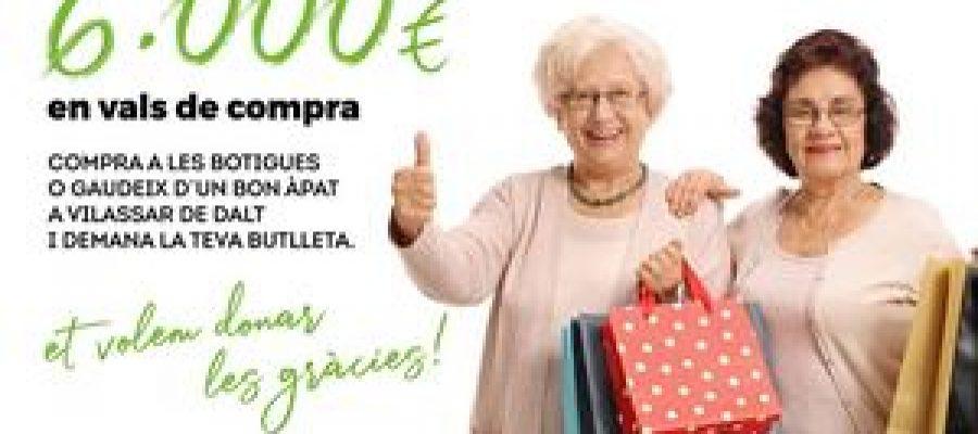 Cartell de la campanya Sabies que Comprar a Vilassar té premi