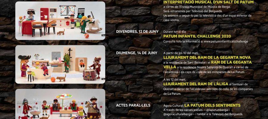 Cartell oficial de La Patum confinada del 10 al 14 de juny